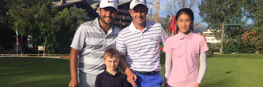 Elliott Andrews tee it up with European Tour Stars Luke Donald and Alexander Levy