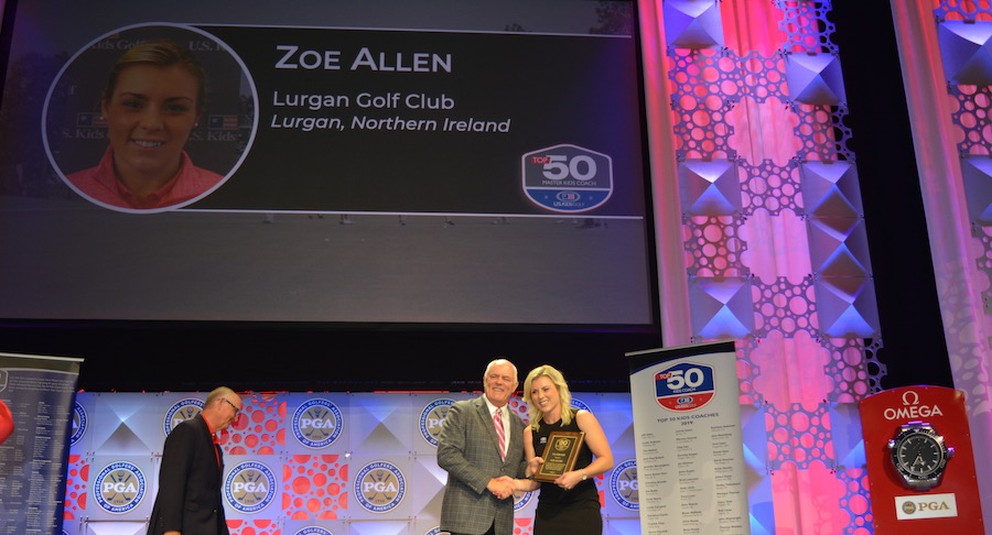Zoe receives US Kids Master Coach Award
